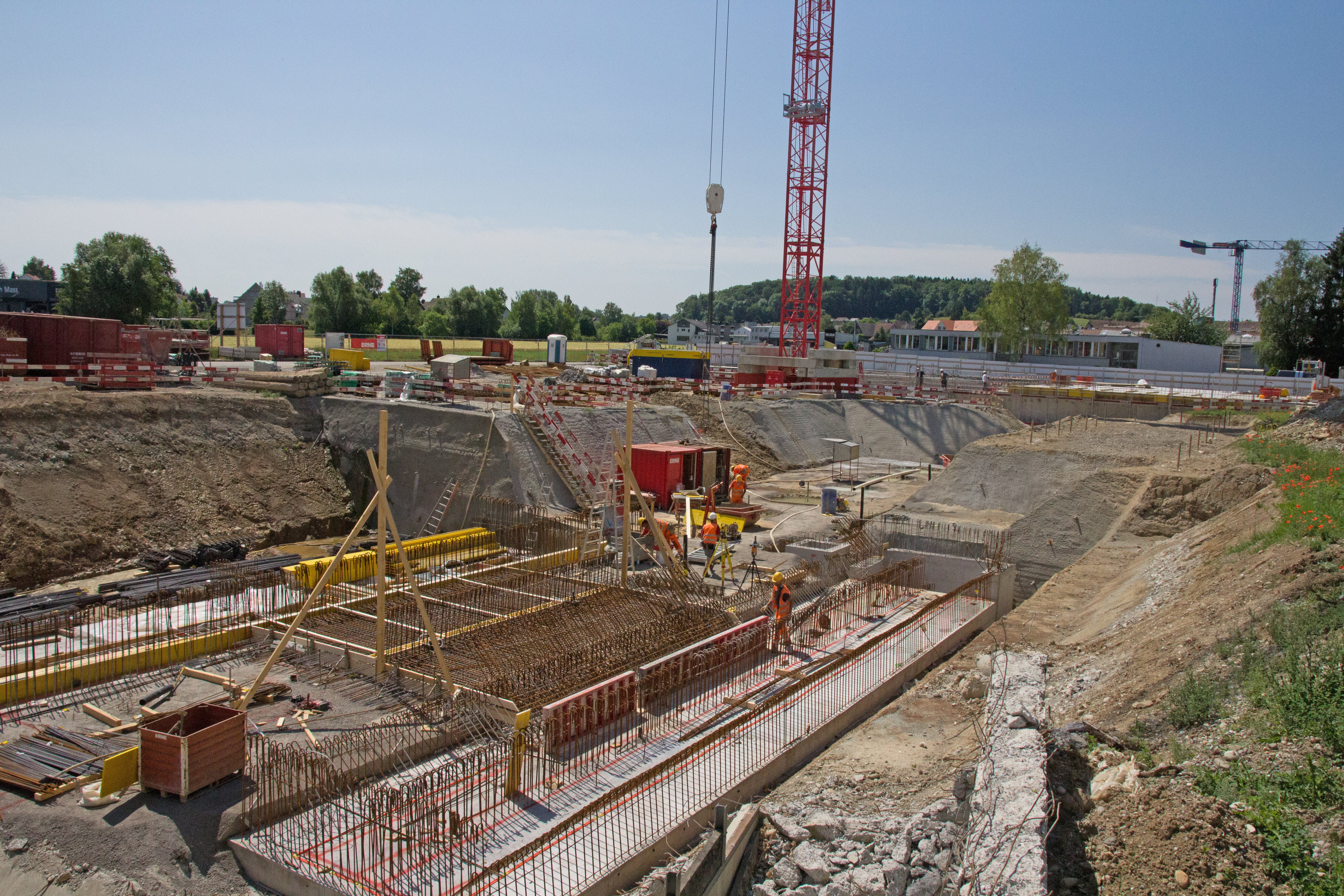 Baustelle Abwasserreinigungsanlage Niederglatt