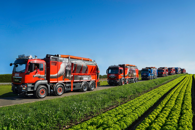 Saugbagger ERNE-FANT Flotte
