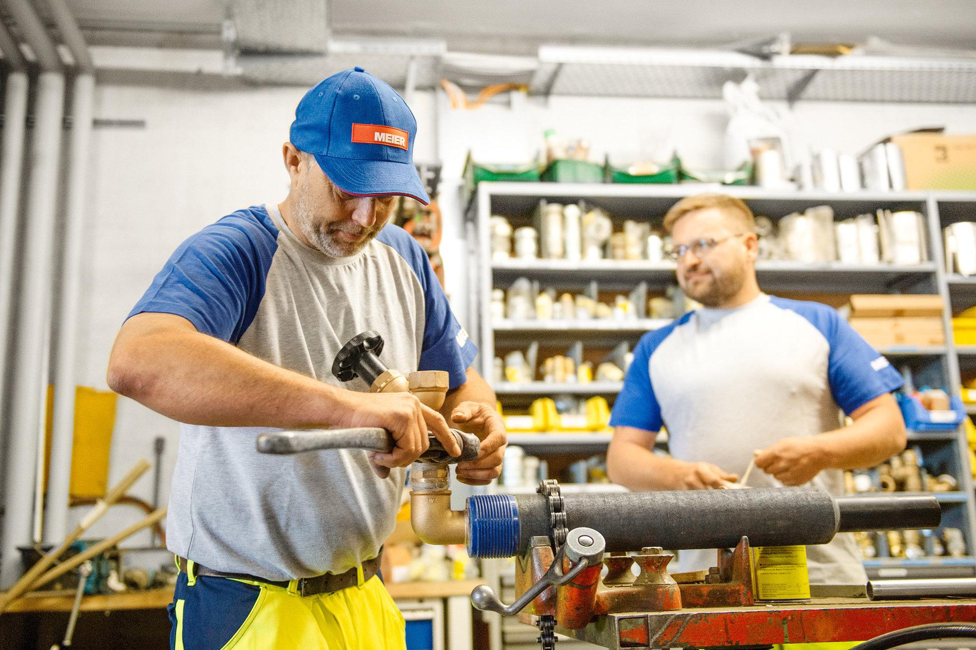 Mitarbeiter Rohrleitungsbau