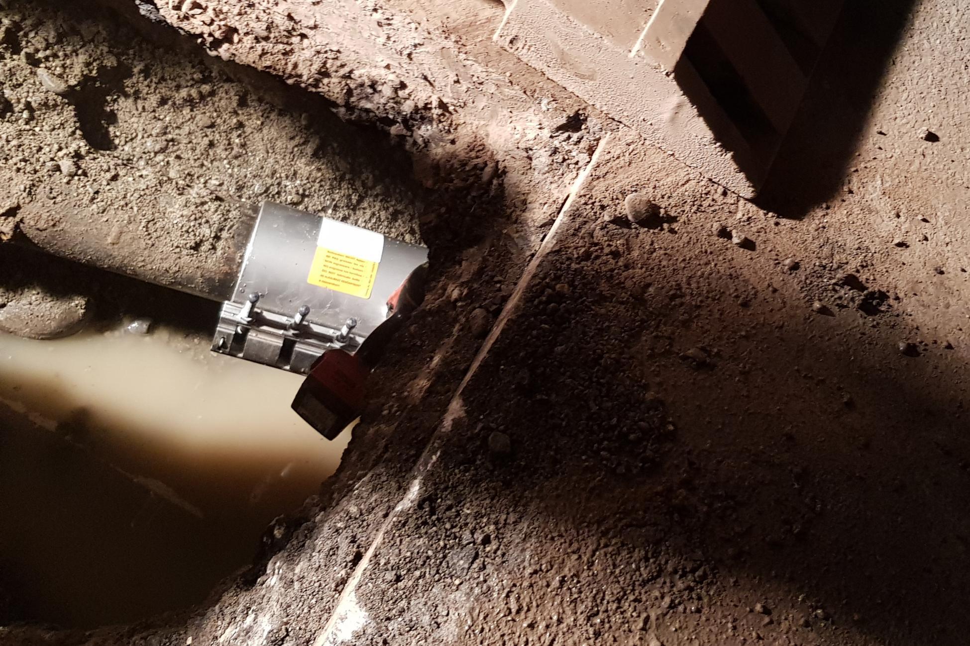 Mellingen Hauptgasse Wasserrohrbruch behoben