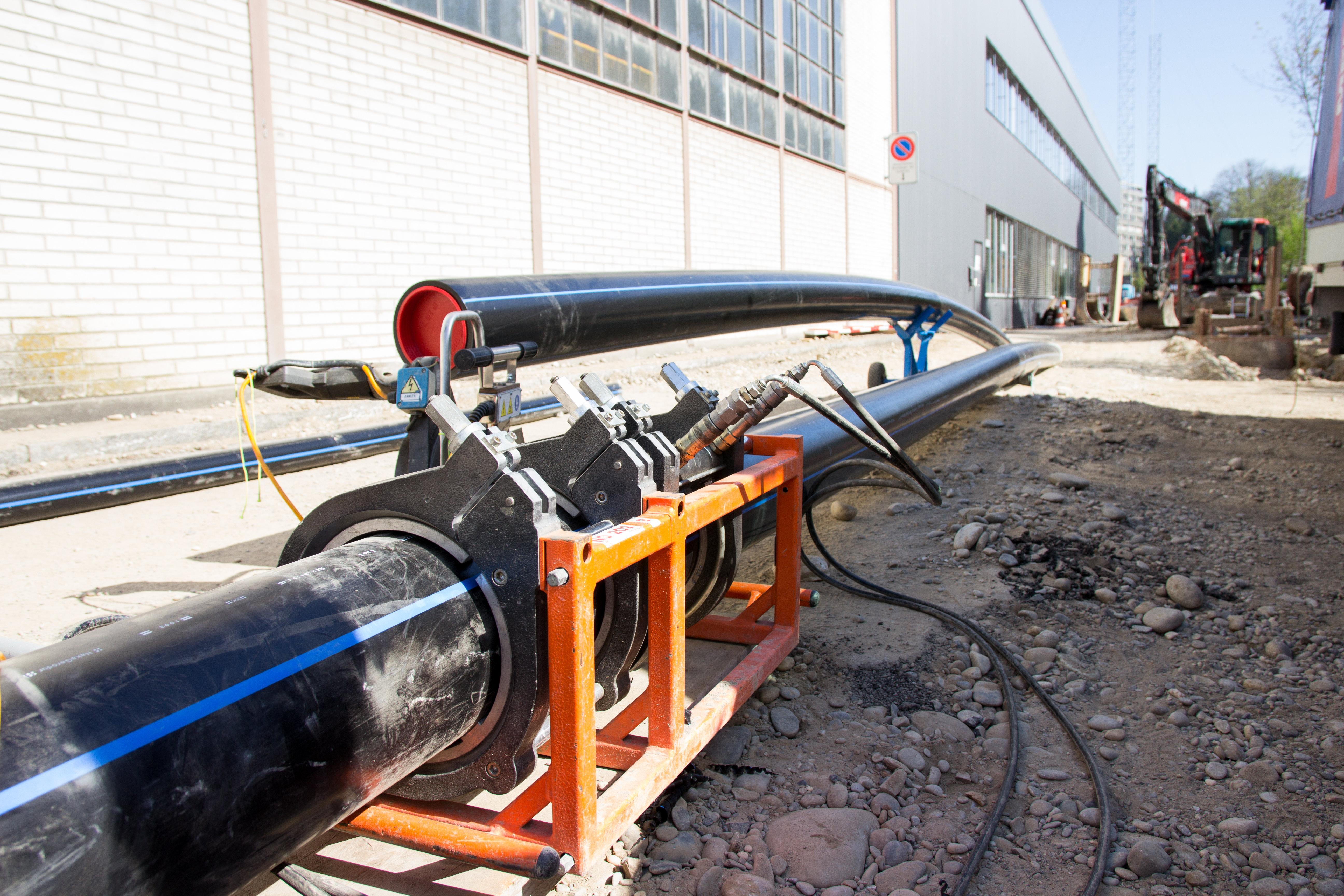 Verlegung von Rohrleitungen